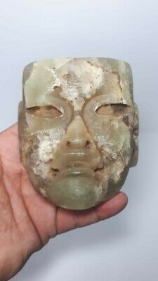 Pre-Columbian Olmec Jade mask from Mexico. CA. 400 bc.