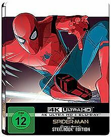 Spider-Man: Homecoming (Steelbook 4k-UHD BD) [Blu-ray] de J... | DVD | état neuf