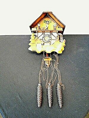 VINTAGE Hand-Carved Cuckoo Clock made in West Germany