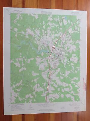 Emporia Virginia 1964 Original Vintage USGS Topo Map