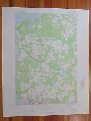 Hancock Michigan 1976 Original Vintage USGS Topo Map