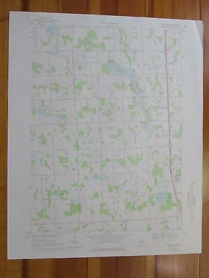 Hartland Michigan 1976 Original Vintage USGS Topo Map