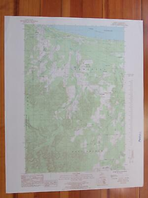 Harvey Michigan 1985 Original Vintage USGS Topo Map