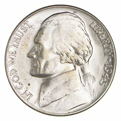 5c BU Unc MS 1945-D Jefferson WARTIME Silver Nickel *957
