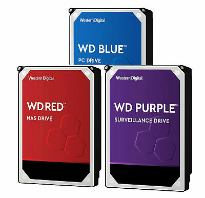 Western Digital 1TB 2TB 3TB 4TB 6TB 8TB 10TB Internal Hard Drive Blue Purple Red
