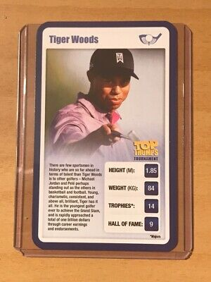 Tiger Woods  - Usa - Top Trumps - Sporting Heroes - Excellent