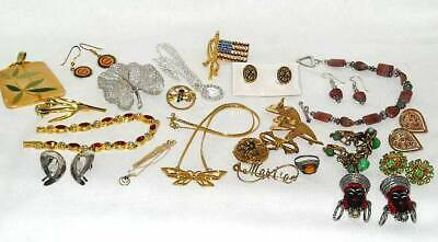 JEWELRY LOT,1890s-2000s,21pcs,14K GOLD,STERLING SILVER,12K GF,TRIFARI,FORSTNER..