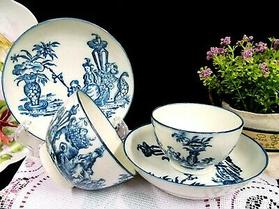 Antique Caughley Bell toy 18 tea cup and saucer tea bowl 18th century Chinese