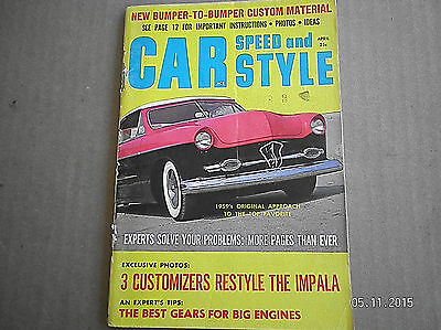 Car Speed And Style Magazine  April 1959...3 Customizers Restyle The Impala