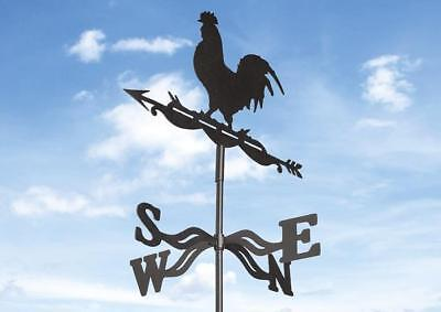 Metal Cockerel Weather Vane Black Gardman 17277