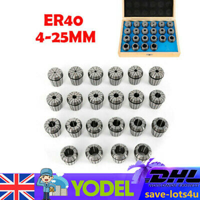 Plum-type ER40 Collet Chuck Set 22PCs Milling Tool 4-25mm Collect Milling Chuck