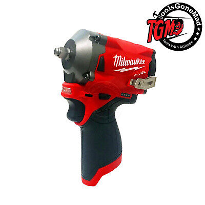 "Milwaukee M12 12V Cordless Fuel Brushless Stubby 3/8"" Impact Wrench M12FIW38-0"