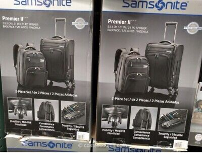 Samsonite Premier 2 Luggage Set (Carry-on And backpack)