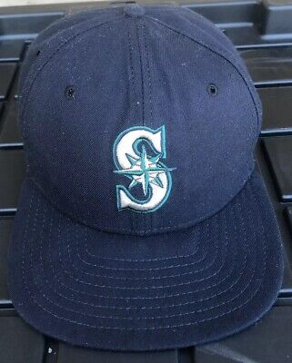 hot sale online e6457 58e22 Vintage 90s Seattle Mariners New Era Pro Model Snapback Hat Cap DuPont USA  Made