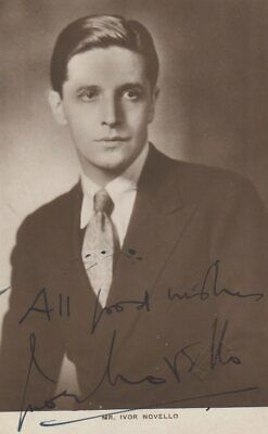 *GREAT BRITISH STAGE STAR IVOR NOVELLO 1930s AUTOGRAPHED PHOTO*