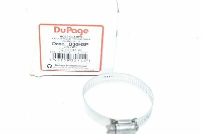 NEW Precision DuPage B36HSP 35745 Stainless Worm Gear Hose Clamp, 1-13/16'' ? 2-