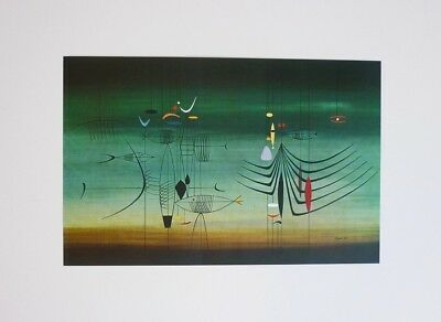 Rare Atomic Space Age Mid-Century Pre-1950'S Modernist Surreal Biomorphic Print