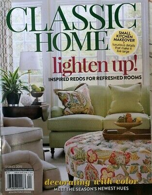CLASSIC HOME JUNE 2019  living elle journal french cottage gardens decor style
