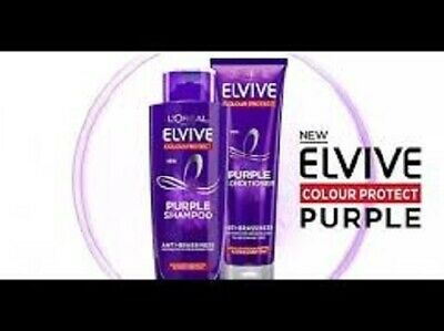 L'Oreal Elvive ANTI-BRASSINESS PURPLE Shampoo AND Conditioner set Both full size