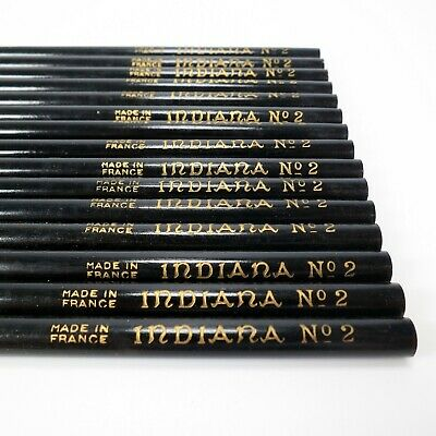 15 x Indiana Pencil Co. No. 2 / HB Pencils Vintage Unsharpened - Made In France