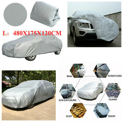 Waterproof Large Full Car Cover Breathable UV Protection Outdoor Universal 480cm