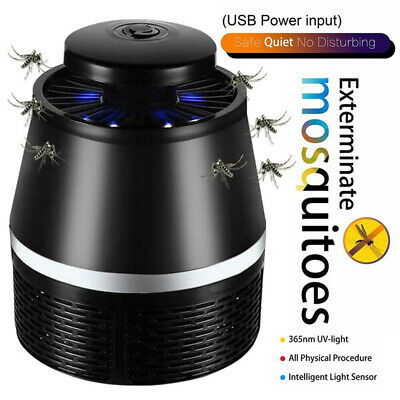 USB Mosquito Killer Lamp Insect Fly Bug Zapper Trap Pest LED Control UV LightK