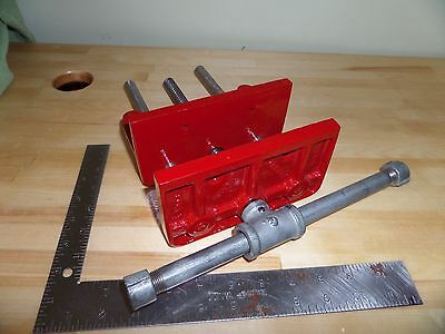 "WILTON 1203 Woodworking Under Bench Mount 6-1/2"" Vise Powder Coated Red USA"