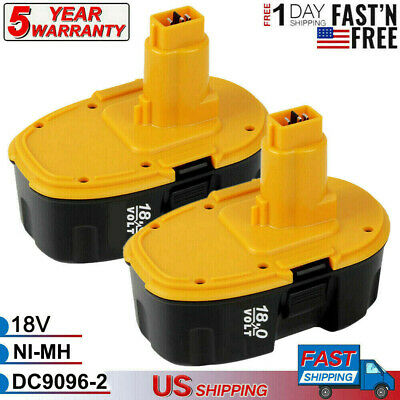 Replace for DEWALT DC9096-2 18V XRP NiCD Battery DC9096 DC9099 DC9098 Tool - 2pk