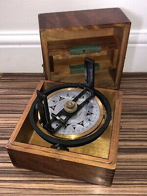 Rare Vintage Ships Compass On Gimbal - E.s Ritchie Pembroke Massachusetts In Box