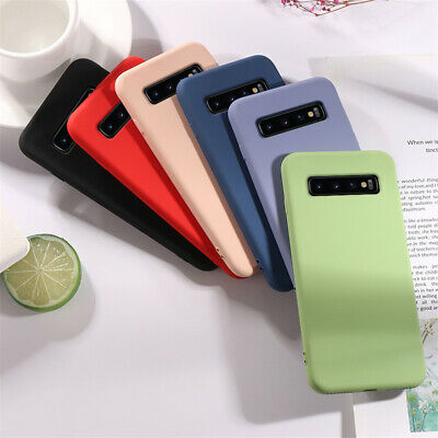 For Samsung Galaxy S10 E S9 S8 S7 S6 TPU Silicone Ultra Frosted Thin Case Cover