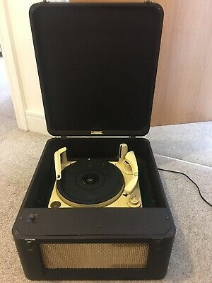 Deccalian Vintage Record Player With Amp Switch