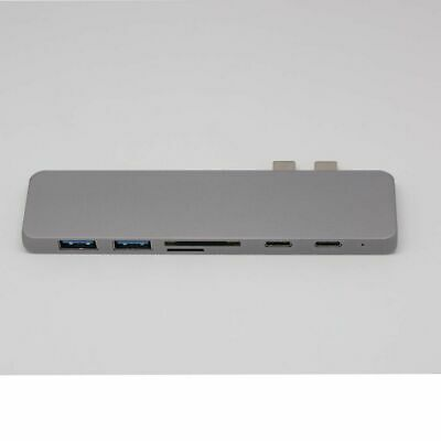 New For MacBook Pro 7 in 1 USB C Hub Type-C Card Reader Adapter Aluminum 4K HDMI