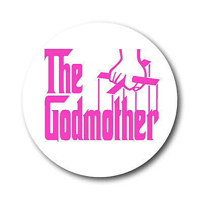 The Godmother Pink Strings New Badge 58 mm Button Lapel Pin Communion Godchild