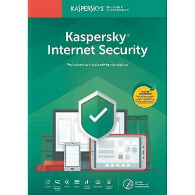 Kaspersky Internet Security 2019 | 1 Device PC Mac Android iOS | 1 Anno ESD NEW