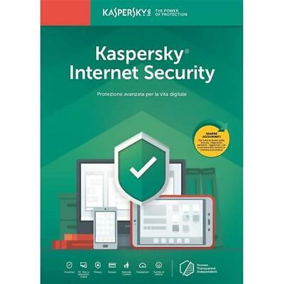 Kaspersky Internet Security 2019 | 3 Devices PC Mac Android iOS | 1 Anno ESD NEW