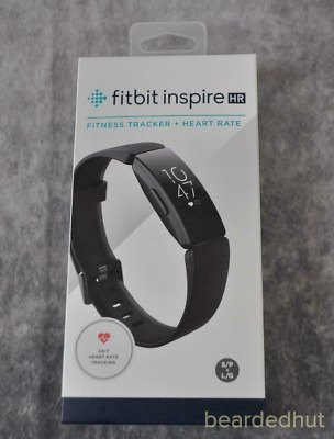 Brand New Fitbit Inspire HR Fitness Tracker Black,Small & Large Bands Included
