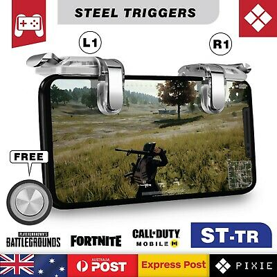Steel Mobile Phone Gaming Shooting Aiming Triggers Button L1R1 for PUBG Fortnite