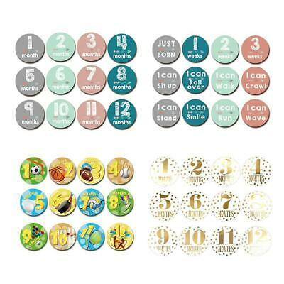Baby Pregnant Women Monthly Photograph Sticker Month 1-12 Milestone Stickers