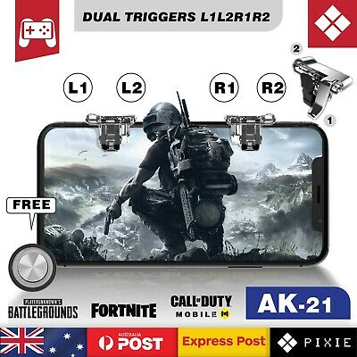 Dual Mobile Phone Gaming Shooting Triggers L1L2 & R1R2 Buttons for PUBG Fortnite