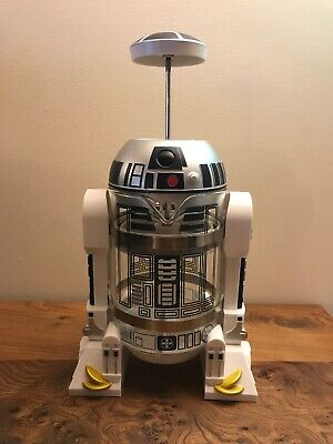 ThinkGeek Star Wars Coffee Press R2D2 Limited Edition 4 Cup French Press - Glass