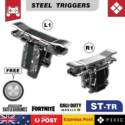Steel Mobile Phone Gaming Shooting Aim Triggers L1R1 Buttons for PUBG Fortnite