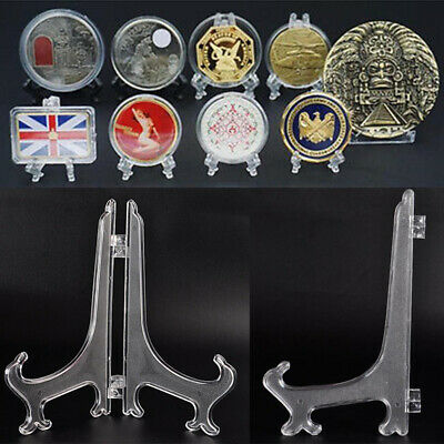 5 Stand Easel Holer Army Challenge Badge Commemorative Coin Case Display 60-80mm