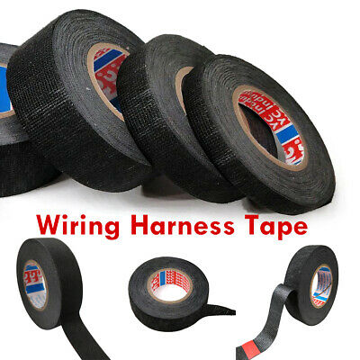 15m Tesa Adhesive Cloth Fabric Wiring Harness Loom Tape Cable Roll 9mm 15mm 19mm