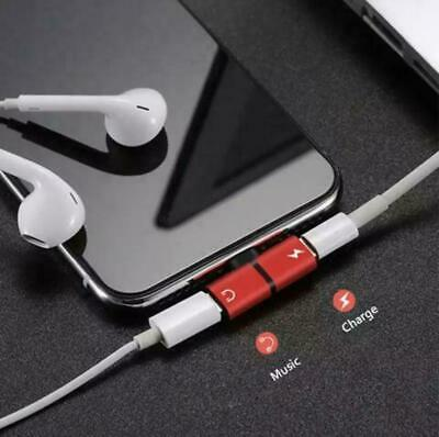 Earphone Charger Audio Aux Dual 2 In 1 Splitter-Adaptor For Apple Iphone-7 8 X