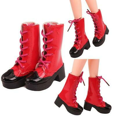 1Pair PU Leather-Doll Red Boots Shoes for 23inch Dolls Accessories Gifts New