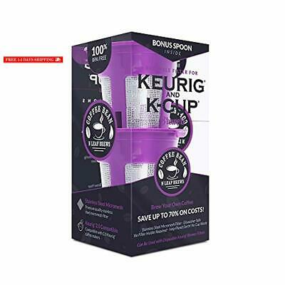 Reusable K Cups for 2.0 and 1.0 Keurig K Cup Style Coffee Maker- 2-Pack K-Cups p