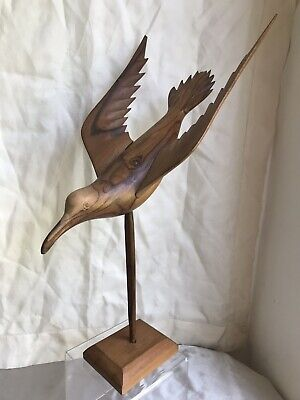 Pitcairn Islands Miro Wood Hand Carved Bird by Bruce Young Descendant HMS Bounty