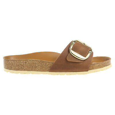 Birkenstock Madrid Big Buckle Nubukleder geölt  Sandalen normal 1006524 Braun
