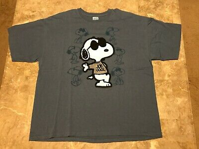 402be92a6 Vintage 90s Peanuts Snoopy JOE COOL Relax Velvet Graphic T-Shirt Adult Size  2XL