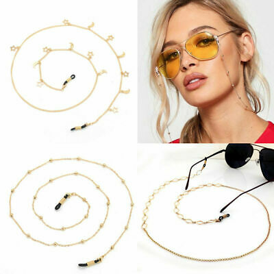 Glasses Chain Sunglasses Chain Gold Lanyard Crystal Pearl Star Bloggers Fav